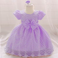 Baby Girl Winter Christmas Clothes Wedding Tutu Dress For Girls Princess Dresses Infant 1 Year First Birthday Girl Lace Dress