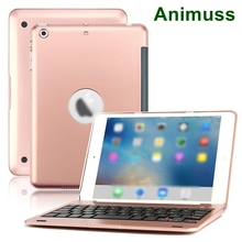 ANIMUSS Wireless Keyboard for iPad Mini Keyboard Case, Folio Flip Smart Cover for iPad Mini 3/ iPad Mini 2/ iPad Mini 1 цена и фото