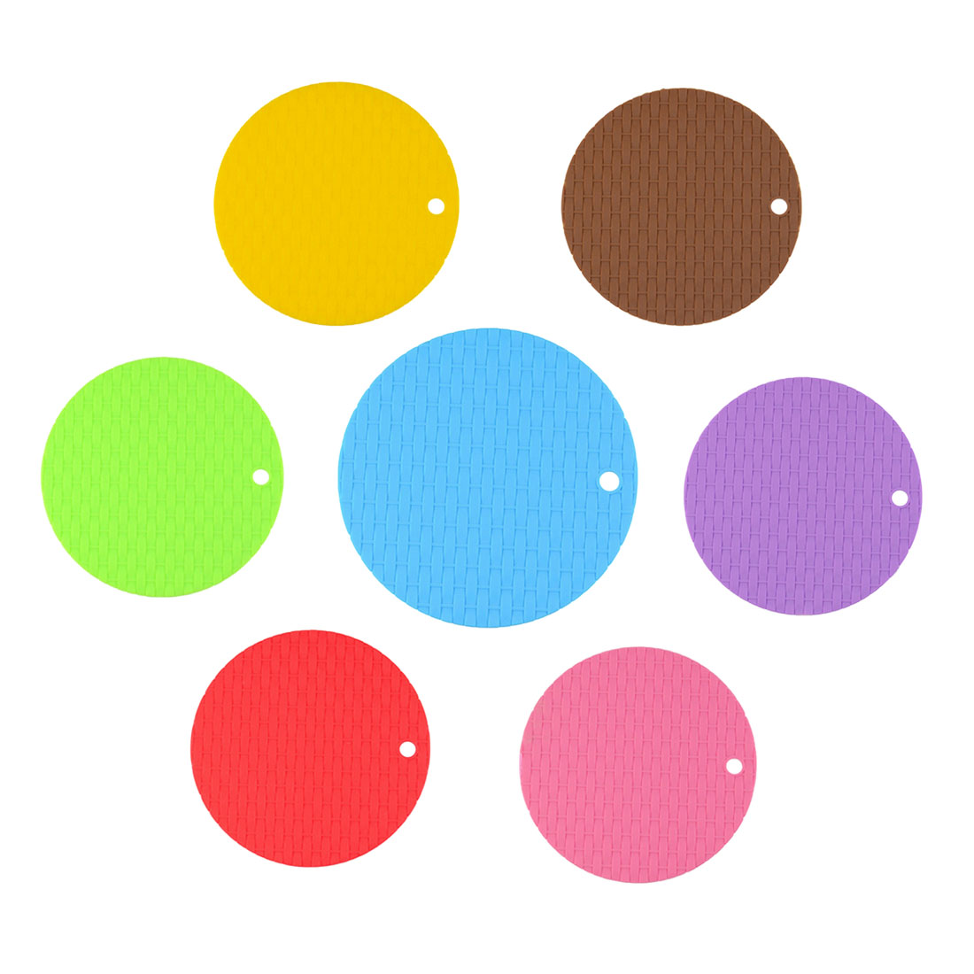 Good Sale 1Pc Round Non-Slip Heat Resistant Mat Coaster Cushion Placemat Pot Holder Silicone Table Mat Kitchen Accessories