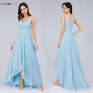Image 3 - Long Evening Dresses Ever Pretty Plus Size EP09983BK Double V Neck Rhinestones High Low Weddings Events Special Occasion Dresses