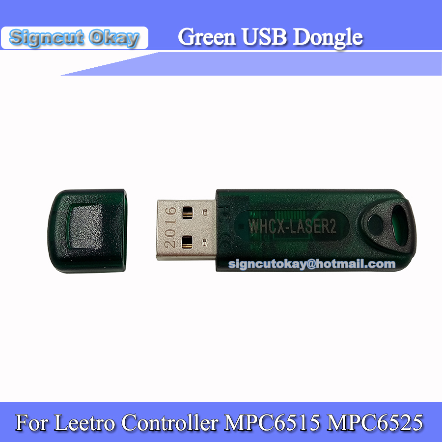 Free Shipping Green USB Dongle  Used For Leetro Controller MPC6515,MPC6525   For Co2 Laser Engraving And Cutting Machine