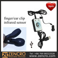 Earlobe Pulse Infrared Meter Monitor USB Heart Rate Recorder