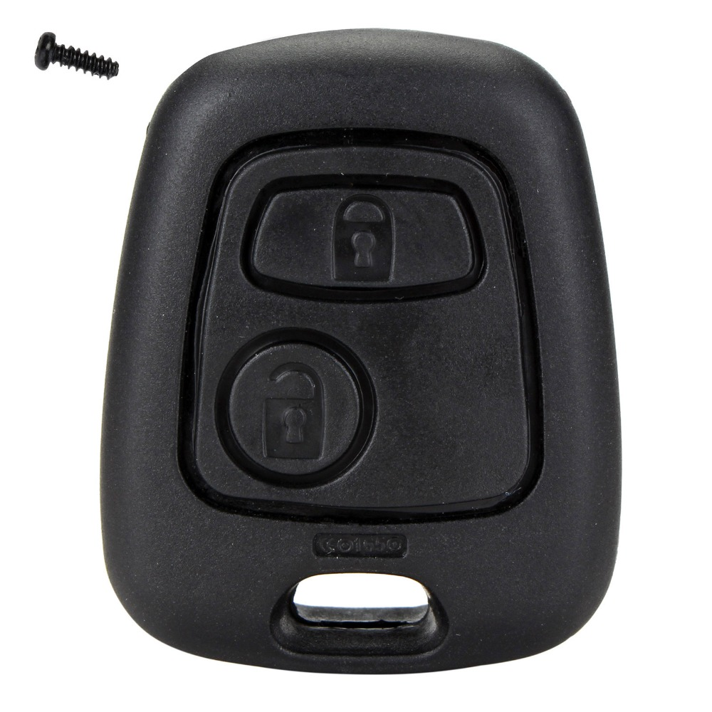 2 Button Remote Key Car Key Fob Case Replacement Shell