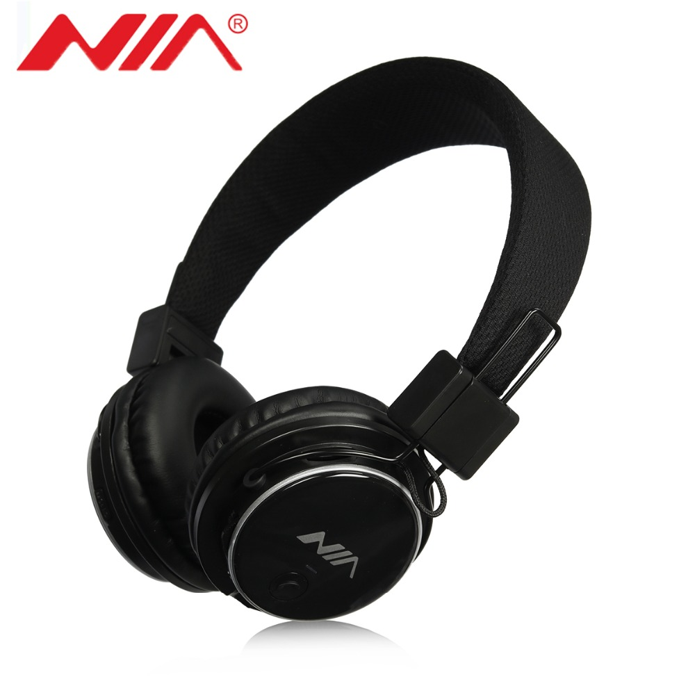 New Version Original NIA Q8 Stereo Bluetooth Headphone Wirelsee Stereo Foldable Sport Headsets with Mic Support TF Card FM Radio economic set original nia 8809s 8 gb micro sd card a set wireless headphone sport for tv with fm
