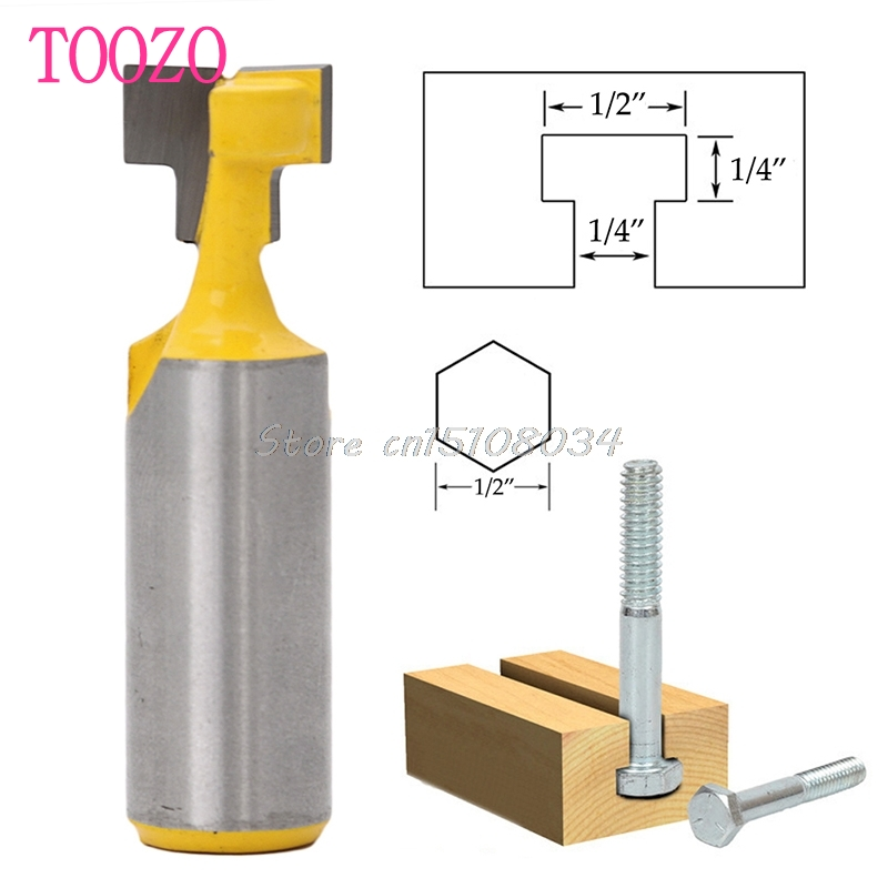 1/2'' T-Slot Cutter Steel Handle Milling Router Bit 1/2'' Shank for Woodworking #S018Y# High Quality  цены