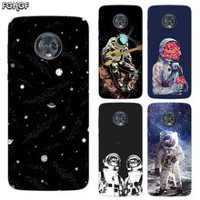 Silicone Hull Shell Back Case For Motorola MOTO G5 G5S G6 G4 E4 E5 Plus X4 Riverdale Cover Space Moon Astronaut