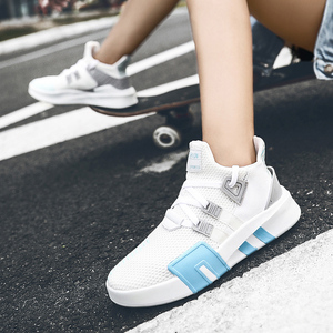 Image 5 - 女性加硫靴高級 Chaussures ファム通気性スニーカーカジュアルフラット女性トレーナーレディース新デザイナーホット販売