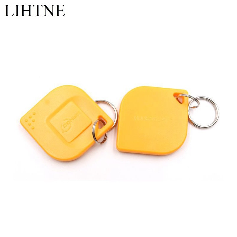 2PCS/lot 125KHz TK4100 RFID Proximity ID Key Fobs ID Token Tag Card Tag For Door Access Control 50pcs lot 125khz rfid tag proximity id card key tag keyfobs access control card blue yellow red