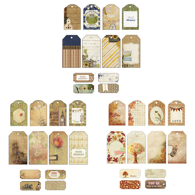 12pcs set handmade hanging tag kraft paper our time gift tag label