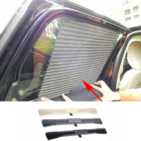 Car Window Retractable Mesh Curtain with UV Protection