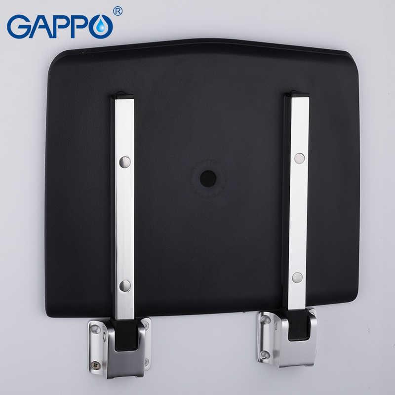 GAPPO настенное сиденье для душа Черный Ванная комната складные стулья стульчик для ванны и душа стул туалет экономии пространства Складное Сиденье