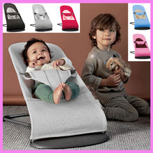 Portable High Quality Infant Baby Folding Cradle Swing Safety Recliner Newborn Rocking Chair Swinging Lounge Chair Bouncer 0~24M