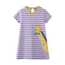 Get more info on the Spring zhong xiao tong Cute Cartoon Girls Lady Short Sleeve Cotton Dress Children Princess Dress