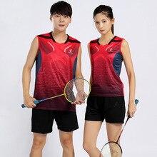 Женские и мужские футболки без рукавов для тенниса рубашка для бадминтона для детей спортивный костюм Джерси для бадминтона для мальчиков комплект для настольного тенниса tenis hombre 3889