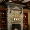 Винтажная промышленная креативная индивидуальная настенная лампа для водопровода  бара  кафе  ресторана  столовой  гостиной  паба  настенны...