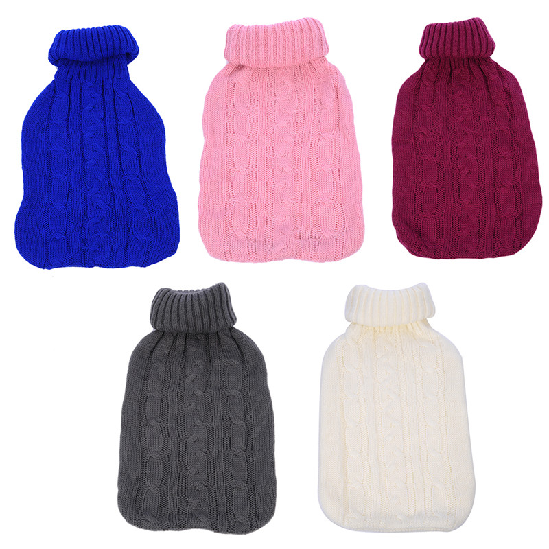 2000ml Large Knitted Hot Water Bag Cover Warm Cold-proof Heat Preservation Hot Water Bottle Cover ...