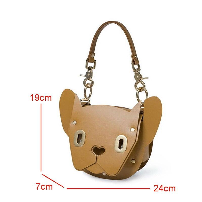 DAEYOTEN nouvelle mode femmes sac Rivet serrure sac à bandoulière forme animale sac à main mignon chien fourre-tout sacs de luxe concepteur sacs à main ZM0238A - 6