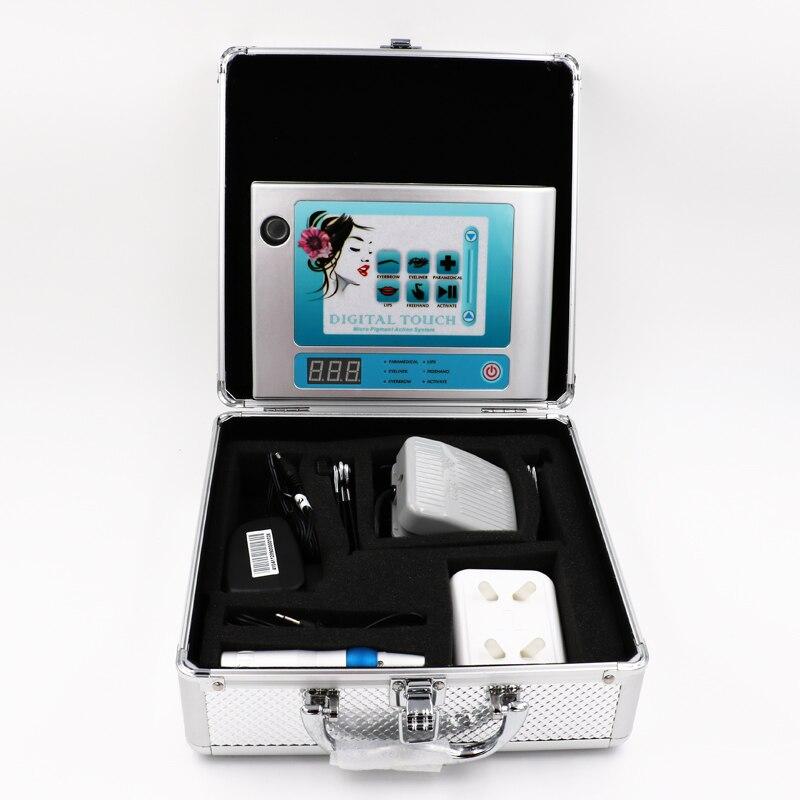 Machine de maquillage permanente de contact numérique Kit de Machine de tatouage de liberté Machine de tatouage de moteur suisse rotatoire avec le commutateur de pied d'aiguille de 50 pc