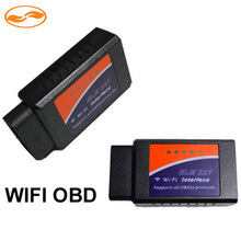 Wireless ELM327 WiFi OBD 2 OBDII OBD2 Dongle Interface Can-Bus Scanner for Android 4.2 4.4 5.1.1 Car PC DVD Player