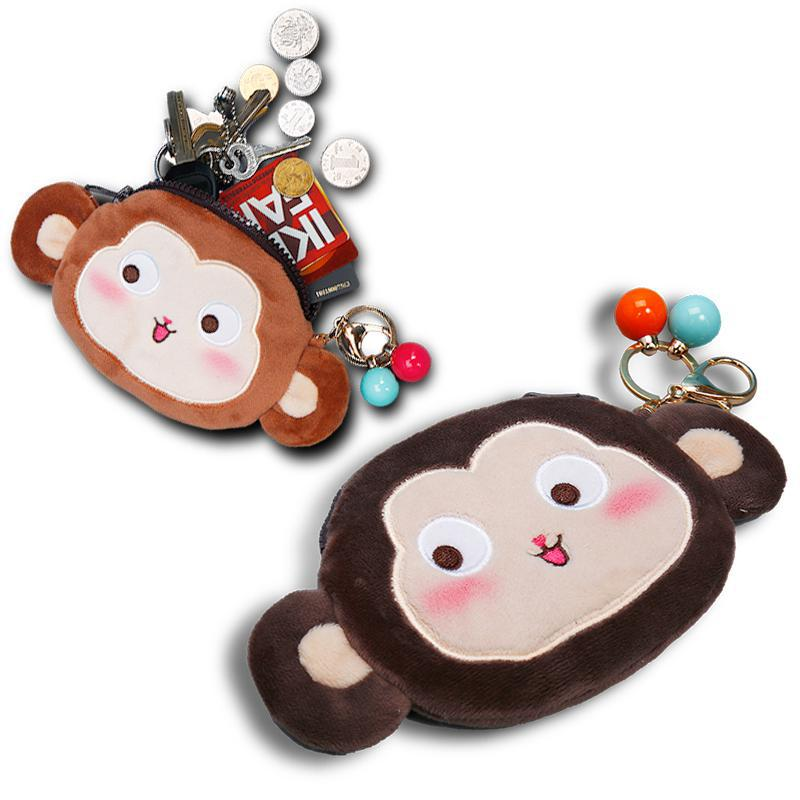 Kawaii Cute Fashion Monkeys Plush Toy Key Chain Coin Color Of Wallet Pouch Case Pendant Bags Pouch Beauty Holder An Enriches And Nutrient For The Liver And Kidney