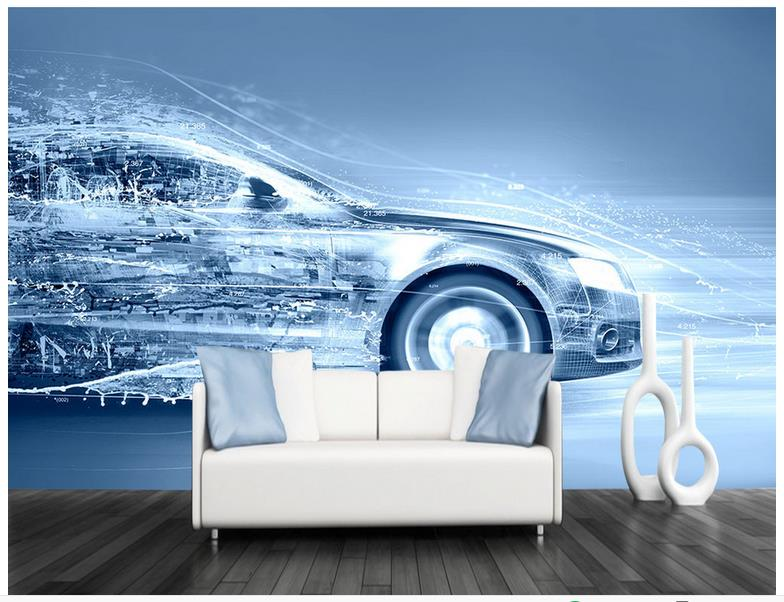3d wallpaper 3d murals wallpaper for walls 3 d Beautiful Dynamic modern car TV setting wall sofa livingroom wallpaper decor