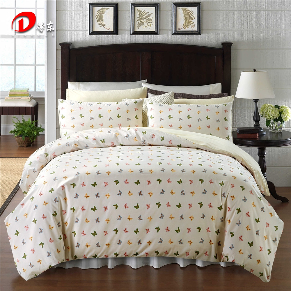 Colorful Butterfly Satin Bed Set Luxury Egyptian Cotton ...