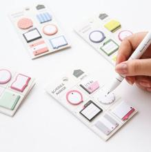 Fresh Style Schedule Marker Self-Adhesive Memo Pad Sticky Notes Bookmark School Office Supply