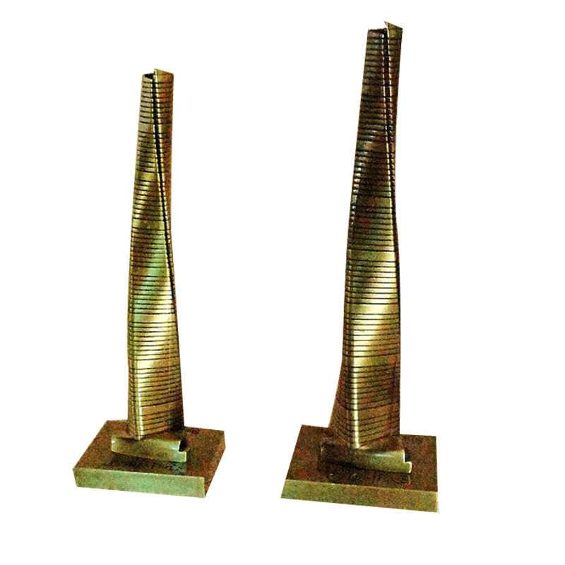 Шанхайская башня, железная модель, украшение стола, аксессуары для украшения дома, Современная столешница, фигурка, украшение, железный сувенир
