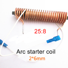 Mutual inductor 25:8 All copper high voltage arc transformer 2*6 for Inverter welding machine lead coil