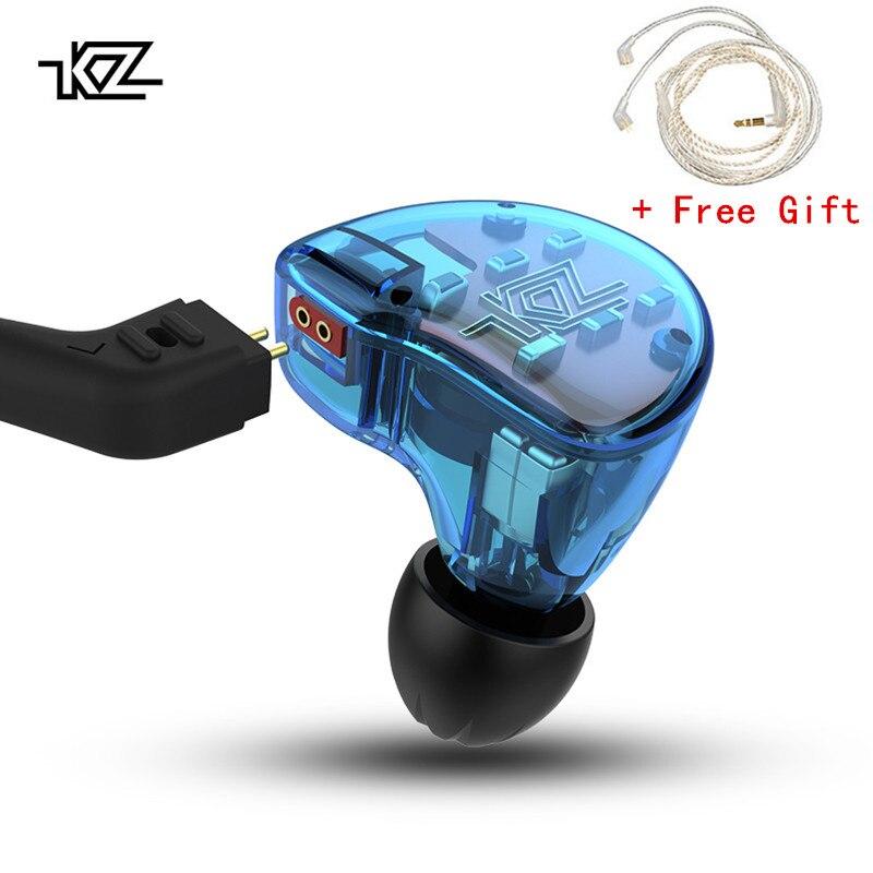 KZ ZS10 Гибридный наушники 4BA + 1DD драйвер гарнитура монитор HiFi Bass Запуск Шум отмена наушников с модулем Bluetooth