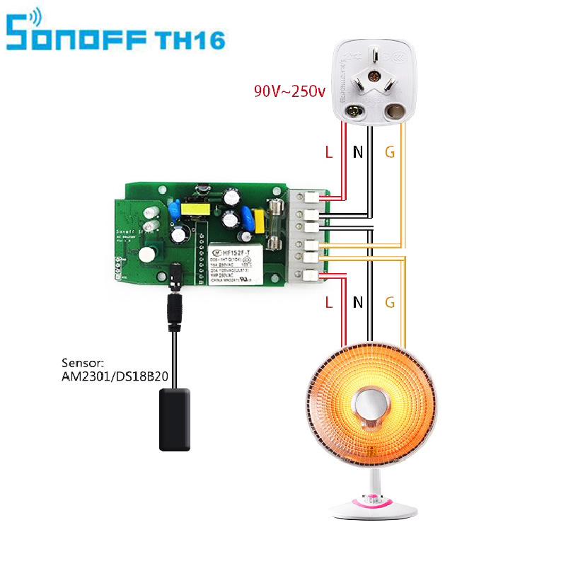 Sonoff Smart home TH16 Prueba de interruptor Temperatura Humedad - Electrónica inteligente - foto 5