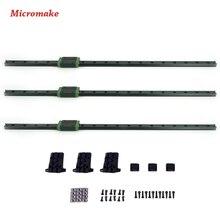 Micromake 3D Комплект Принтера Коссель Дельта Линейный Рельс 460 мм Длина с Ползуна 3 шт./лот