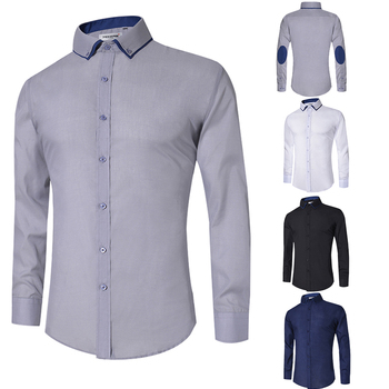 New Design 2018 Casual Shirt Men Long Sleeve Slim Fit Men's Casual Button-Down Shirt Formal Dress Shirts Male Clothing Camisa