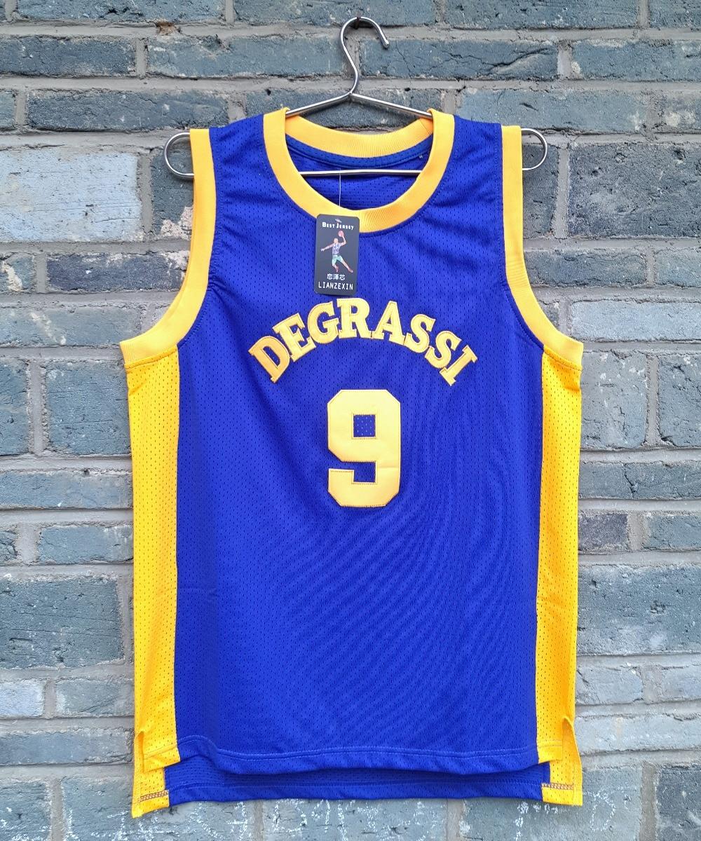 LIANZEXIN Cheap #9 Drake Jimmy Brooks Degrassi Community School Panthers Basketball Jersey No Name Blue Men Jerseys Sale цена