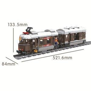 Image 2 - זוכה 5090 שוויץ קלאסי רכבת עיר טכני דגם בניין בלוקים לבני ילדי DIY צעצועים לילדים חינוכיים