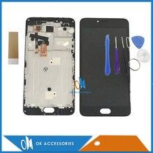 Para Meizu M3 Nota M681H M681M M681Q Pantalla LCD + Pantalla Táctil digitalizador Con Marco de Color Blanco Negro Con Herramientas y Cinta 1 PC/Lot