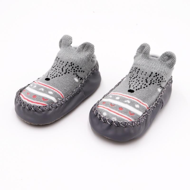 Newborn Baby Girls Boys Cartoon Anti Slip Socks On Shoes Indoor Winter Low Fashion