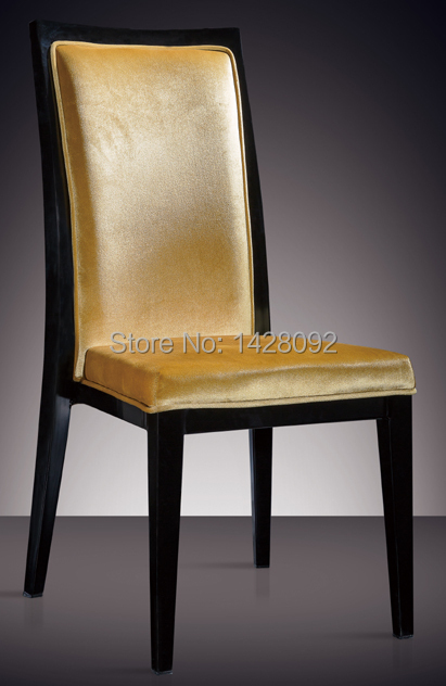 quality painted aluminum upholstered dining chair LQ-L812
