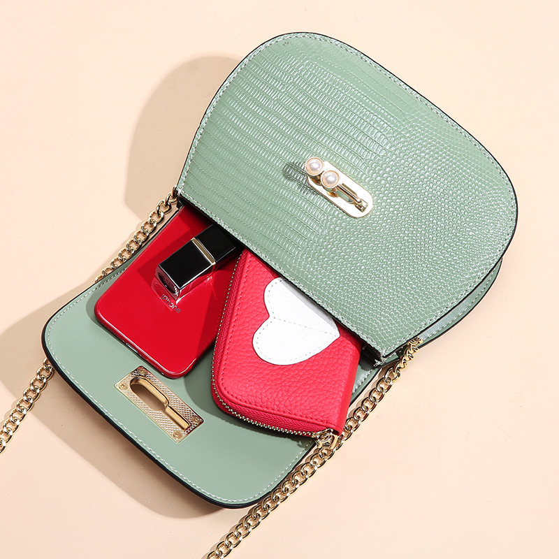 Mode Sattel Split Leder Runde Tasche Umhängetaschen Für Frauen Luxus Handtaschen Frauen Taschen Designer Mini Schulter Tasche sac - 4