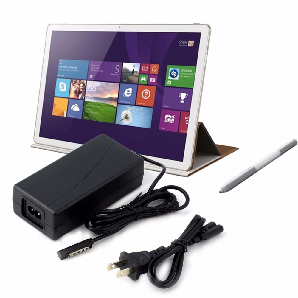 US Plug 45W 3.6A AC Power Adapter Wall Charger For Microsoft Surface Pro 1 & 2 10.6 Windows 8 Tablet Wholesale ...
