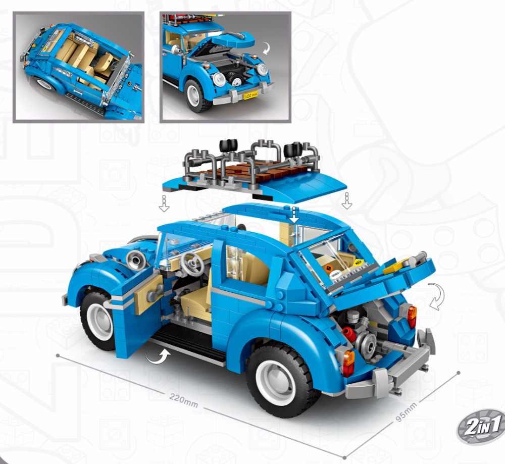 LOZ Mini bloques Technic Mini ciudad coche modelo Construcción ladrillos vehículo carreras coche ensamblaje juguete para niños DIY educativo 1114