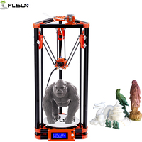 Full Metal Frame Heated Bed 3D Printer, Professional 3d Color Printer With 2GB SD Card LCD 40m Filament for Free
