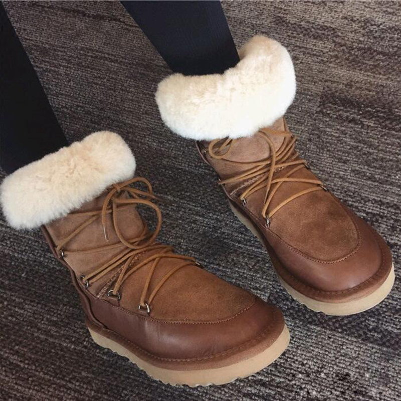 SunNY Everest winter women boots ankle cow leather lady shoes cross-tied femail boats rubber sole slip-on black brown35-41us9 10SunNY Everest winter women boots ankle cow leather lady shoes cross-tied femail boats rubber sole slip-on black brown35-41us9 10