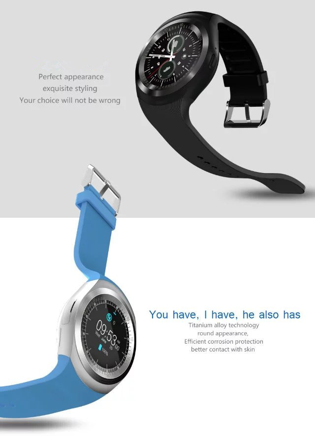 Bluetooth Montre Smart Watch Ronde Soutien Nano 2G SIM & Carte Mémoire Avec Whatsapp Facebook App Pour IOS et Android Téléphone