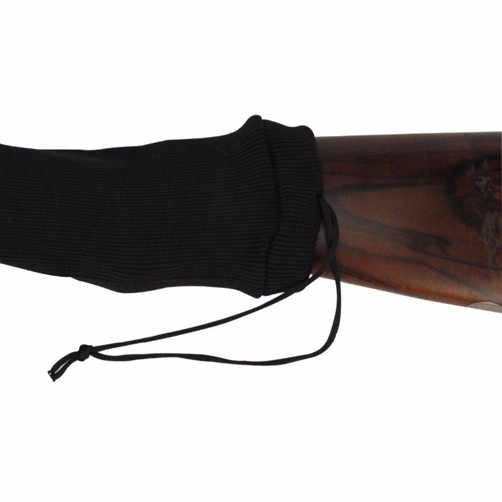 Tourbon Jachtaccessoires Tactical Rifle Knit Gun Vuurwapen Sokken Silicone Behandeld Pistoolbeschermer Shotgun Cover Zwart Fotograferen
