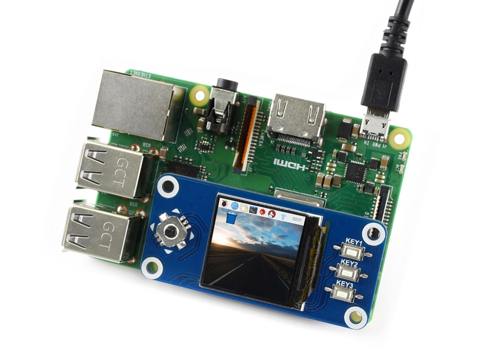Waveshare 1.3inch IPS LCD <font><b>display</b></font> HAT for Raspberry Pi <font><b>240x240</b></font> pixels SPI interface with embedded controller IPS screen image