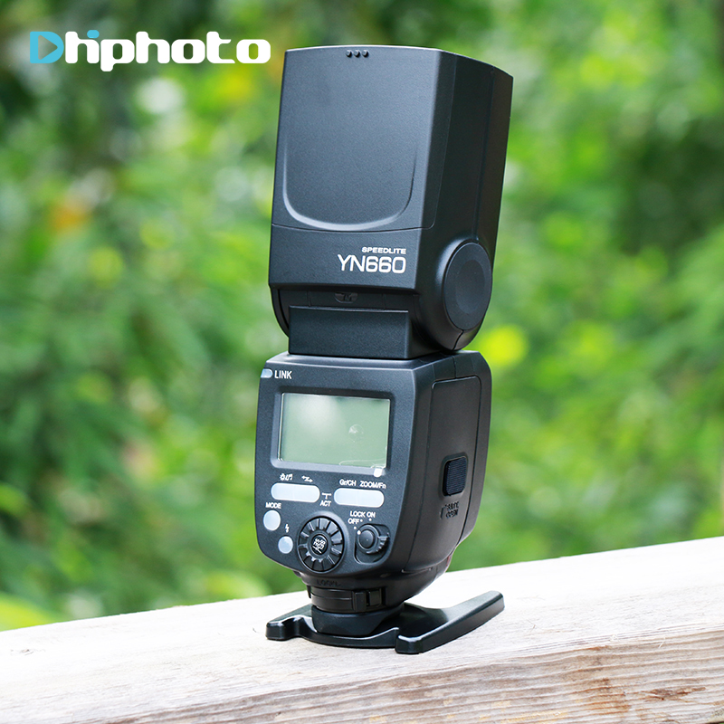 Original YONGNUO YN660 Wireless Flash Speedlite GN66 2.4G Wireless HSS 1/8000s for Canon Nikon Pentax Olympus camera yn e3 rt ttl radio trigger speedlite transmitter as st e3 rt for canon 600ex rt new arrival