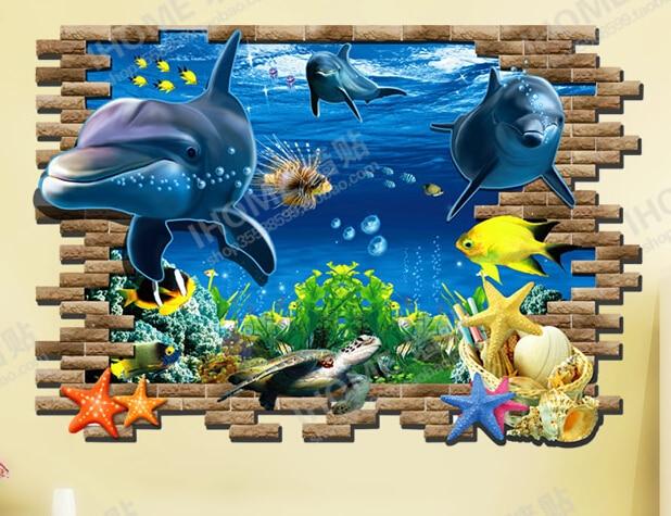 Aliexpresscom Buy 3D Wallpaper Sweet Home Decor Blue Ocean