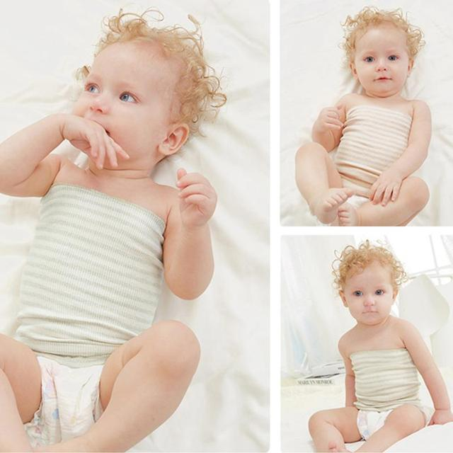Baby Cotton Belly Circumference Band Striped Single Layer Baby Umbilical Cord Infant Kids Navel Protection Bellyband Baby Care