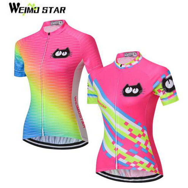 d47150f49 WEIMOSTAR Fluorescence Green Pro Team Women s Cycling Jersey Short Sleeve  Girls Bike Clothing Summer Breathable Cycle Wear Shirt